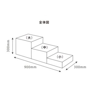 ディスプレイブロックセット寸法図